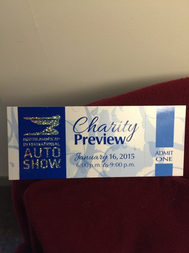 My NAIAS Auto Show Charity Preview to tickets!