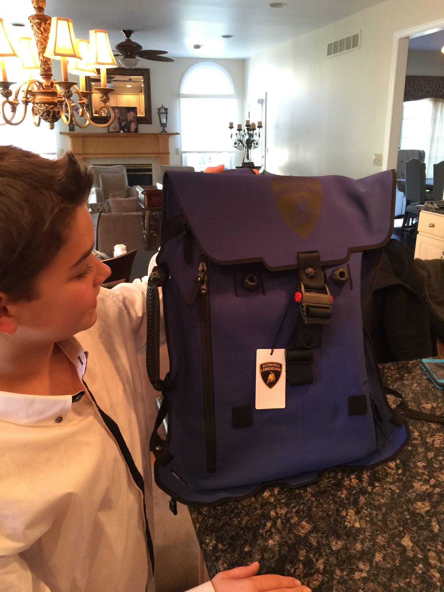 My New Lamborghini Backpack
